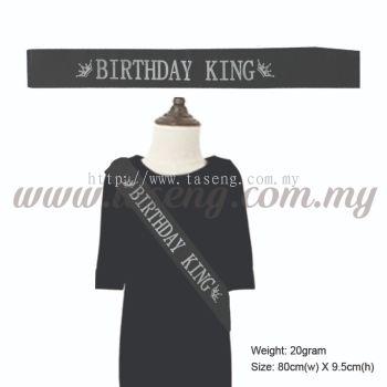 Sash - Birthday King - Black (P-AC-SABK-BK)