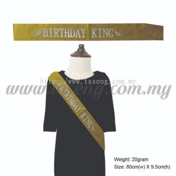 Sash - Birthday King - Gold (P-AC-SABK-G)
