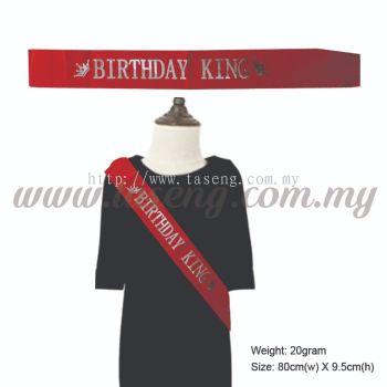 Sash - Birthday King - Red (P-AC-SABK-R)