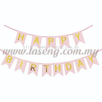 Banner Happy Birthday *Pink - Small (P-BN-8936P)