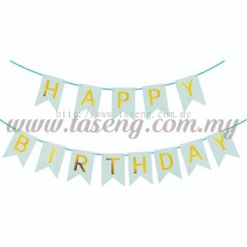 Banner Happy Birthday *Tiffany Blue - Small (P-BN-8936TB)