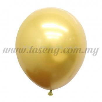 12inch Chrome Balloon 50pcs - Gold (B-12CR-GO)