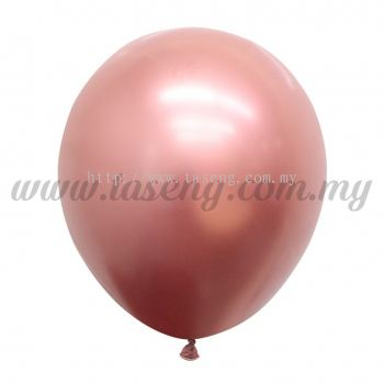 12inch Chrome Balloon 50pcs - Rose Gold (B-12CR-RG)