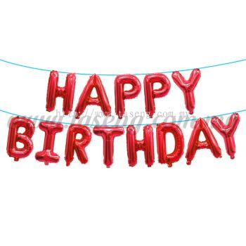 16inch Happy Birthday Foil Balloon Set *Red (16FB-HB-T081-R)