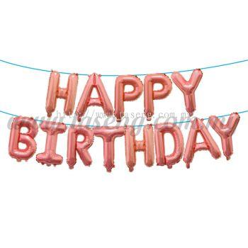 16inch Happy Birthday Foil Balloon Set *Rose Gold (16FB-HB-T090-RG)