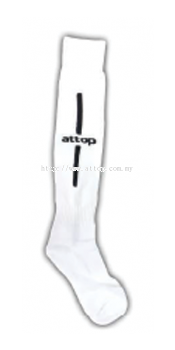 ATTOP SOCCER SOCKS AS 09 WHITE/BLACK