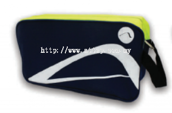 ATTOP SHOE BAG AB 115 NAVY/APPLE GREEN