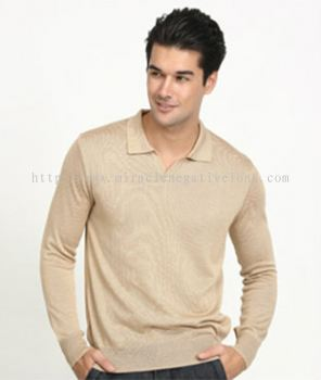 OC008 - Knit Long Sleeve Polo Shirt