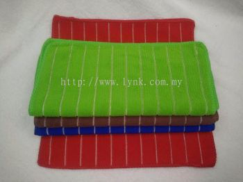 YG18 MICROFIBER STRIPE FACE TOWEL