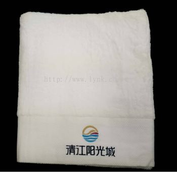 SAMPLE BATH TOWEL WITH EMBROIDERY-VIEW 1