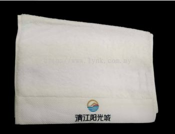 SAMPLE HAND TOWEL WITH EMBROIDERY-VIEW 1