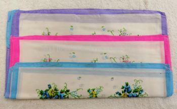 Handkerchiefs Flower Lady 12