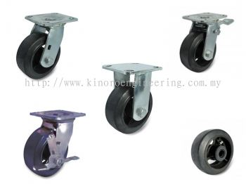 Castor Wheel Cast Iron Centre Rubber