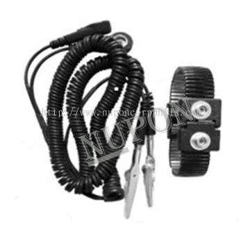 Black Dual Metal Wrist Strap