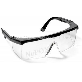 SERIES 46 SAFETY EYEWEAR/ Black Frame/Hard Coated Clear Lens