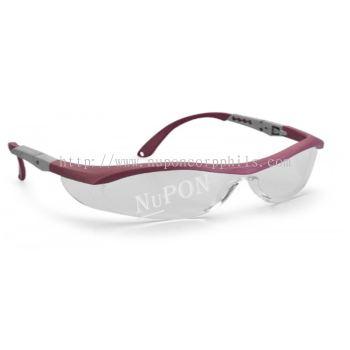 Medallas Safety Eyewear/Metallic Maroon / Hard Coated Clear Lens