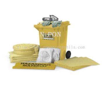 120 litre Dispenser Spill Kit Cart - Chemical Only