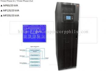 Three Phase Online UPS; 20KVA Modular Type