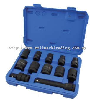 12Pcs 12.5MM Dr Impact Socket Set