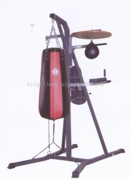 Punching bag w rack