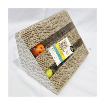Q8337 - Cat Sleeping Pouch W. Wood Scratcher