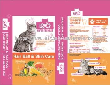 I Cat's Premium Cat Food - Hair Ball & Skin Care 8 Kgs