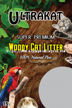 Ultrakat Woody cat litter  (15L)