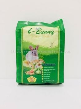 I BUNNY Rabbit Food - 1 KG ( ORANGE + FRUITS GREEN )