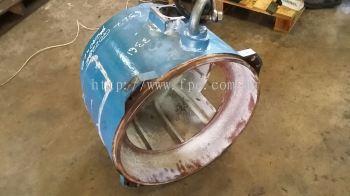 Metal spray repair loose bearing seat Dia.240mm