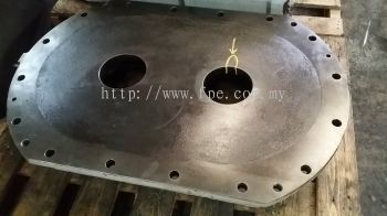 """Metal stitching repair crack at bearing seat area approx. Length 2"""" x Thickness 35mm"""
