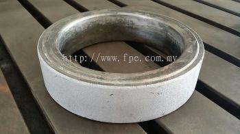 Sprayweld 95 MXC ultrahard alloy on piston ring flat surface & ground finished