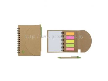 E05 Eco Notepad with Restick Notes & Pen