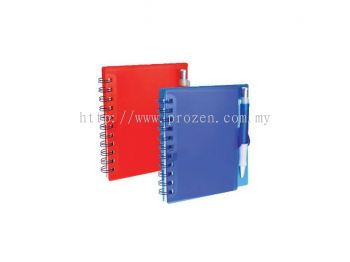NP 403 PVC Cover Notepad (With Pen)