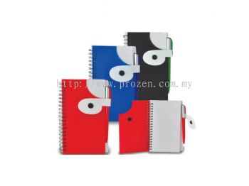 NP 405 Comma PVC Cover Notepad (With Pen)