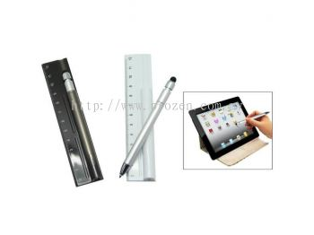 3 in 1 Ruler Pen with Touch Screen Stylus