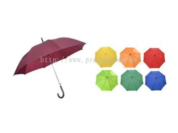 24 Inches Plain Taffeta Nylon Umbrella (Ready Made)