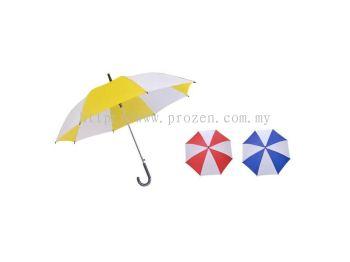 24 Inches Joint Colors Taffeta Nylon Umbrella (Ready Made)