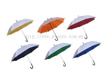 24 Inches Silver Coated Taffeta Nylon Umbrella (Ready Made)