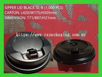 SIPPER LID SL-BLACK (1,000 PCS)