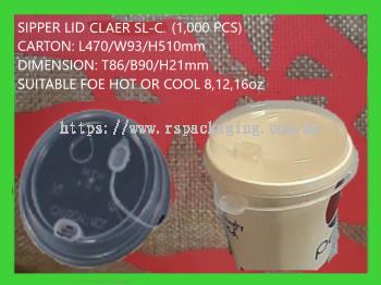 SIPPER LID SL-CLEAR (1,000 PCS)