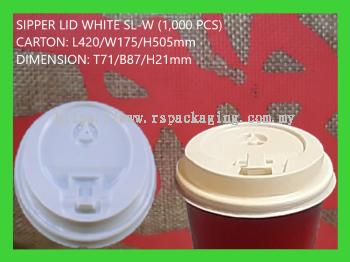 SIPPER LID SL- WHITE (1,000 PCS)