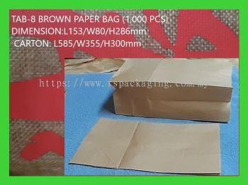 TAB-8 BROWN PAPER BAG 1000 PCS
