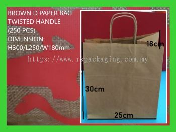 TWISTED HANDLE BROWN PAPER BAG 250 PCS
