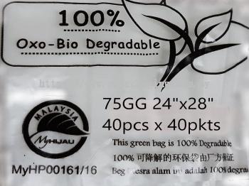 GG-75 OXO BIO DEGRADABLE BAG (1,600 PCS)