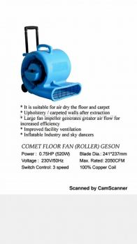 Floor & carpet air blower