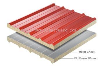 Supply & Installation metal roofing +Pu foam