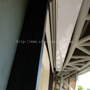 Installation new roller shutter door at arena sport gelang patah