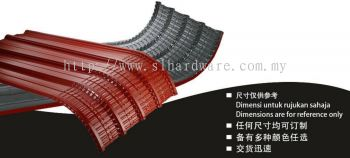 Supply metal roofing curve