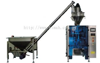 Automatic powder packaging machine with screw auger conveyor