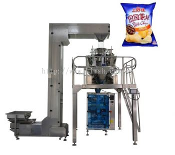 Automatic multi head weigher with bucket evalator granule packing machine